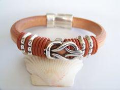 Natural Regaliz Leather Celtic Bracelet  by Joannsfortheluvofit, $30.00