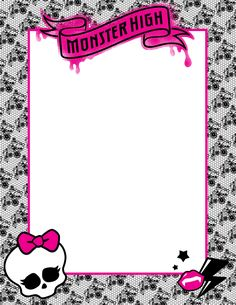 Monster High Picture Frame by ~ShaiBrooklyn on deviantART Monster High School, Monster High Birthday, Monster High Party, Monster High Dolls, Birthday Party Decorations, Party Themes, Party Ideas, Cumple Monster High, Monster High Bedroom