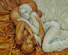 """Yin"" by artist Andrius Kovelinas <3 ummmmb I LOVE to sleep like this! vagina cuddles!"