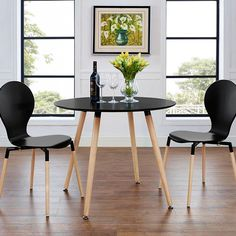 Tadley Black Dining Table | Small Space Living | Color Block | Modern Dining | Eurway