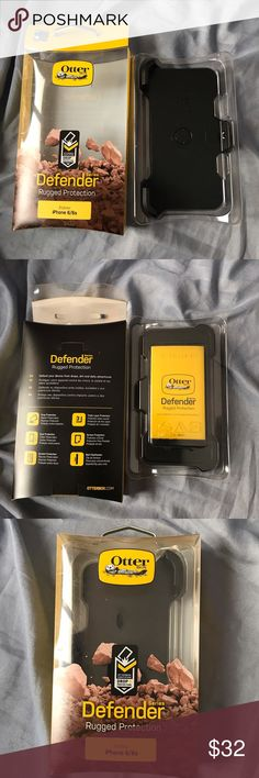 OtterBox Case+Holster For iPhone 6S  NIB Brand new never used only taken out for photos. Shock Proof / Drop Proof / Heavy Duty Rugged  Defend your device from drops, dirt and daily adventures  Drop Protection / Dust Protection / Scratch Protection / Triple Layer Protection   Screen Protector Built In  Includes: Holster & Case OtterBox Accessories Phone Cases