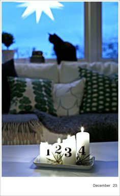 modern alternative to the traditional advent wreath