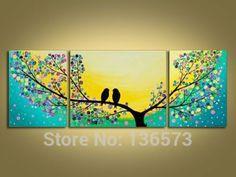 Hand-Painted-font-b-Beautiful-b-font-Scenery-Love-font-b-Birds-b-font-on-Tree.jpg (500×375)