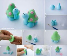 DIY Turtle...why not use JumpingClay and keep your creation forever :)