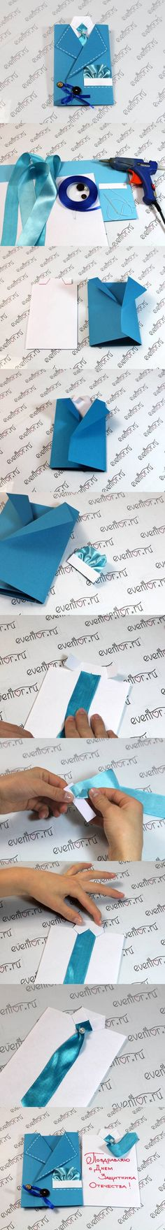 DIY Suit Greeting Card | www.FabArtDIY.com LIKE Us on Facebook == https://www.facebook.com/FabArtDIY