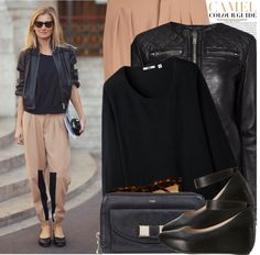 """Street Style: Paris"" by nastyaafanasova ❤ liked on Polyvore"