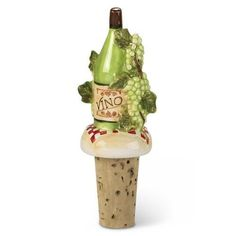 Grapes Vino Wine Cork Bottle Topper Stopper by Downeast Concepts. Save 34 Off!. $9.88. Sturdy cork stopper. 4 1/4 inches high. Fits standard wine or cider bottles. Grapes Vino Wine Cork Bottle Topper Stopper