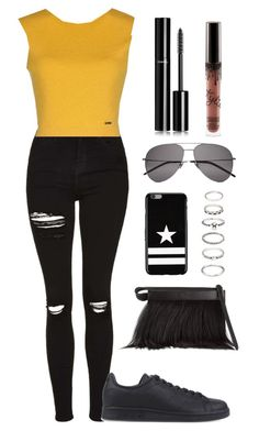 """04."" by roldanrocio ❤ liked on Polyvore featuring Topshop, adidas Originals, Dsquared2, 3.1 Phillip Lim, Chanel, Yves Saint Laurent, Givenchy and Forever 21"