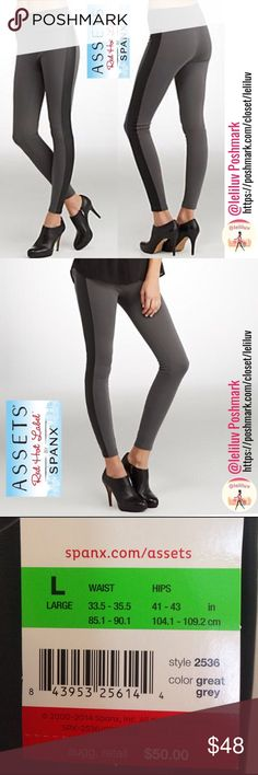 """🎉HP🎉 Racing shapewear leggings w/ leather stripe NWT (check pic. for size chart). Structured slimming Racing gray leggings.  • Slims and smoothes from tummy to legs • Wide, double-layer mesh waistband flattens tummy  • Flattering fabric  • Leather-like side panels add a trendy finish  89% Polyester, 11% Spandex/Elastane 📐Length 41.5"""", Waist: 14.5"""", Hips: 17.5"""", Inseam: 29.5""""📍Leg opening: 4.5""""🎉Host Pick """"Classic Style"""" 3/14/17🎉  Wear with heels for a more polished look, or…"""