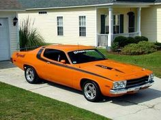 '74 Plymouth Roadrunner..... Not fond of the color but love the car.