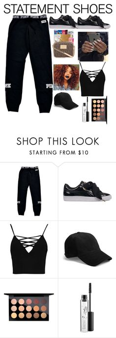 """Untitled #661"" by dtx-jada ❤ liked on Polyvore featuring Victoria's Secret, Puma, Boohoo, rag & bone and MAC Cosmetics"