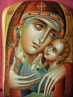 ... Orthodox Icons, Blessed Mother, Sacred Heart, Mother And Child, Religious Art, Virgin Mary, Madonna, Catholic, Wedding Inspiration