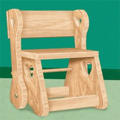 11-2303 - Childs Chair Step Stool Woodworking Plan - Woodworkersworkshop® Online…