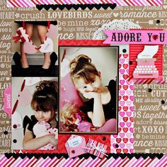 doodlebug sweetheart | Since my daughter's outfit is black I wanted to add touches of black ...