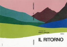 Mario Degrada, book cover design for Rizzoli 70s