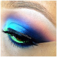 Colorful makeup @ mickipeezie