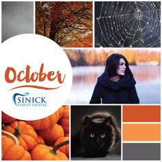 WHO'S READY for carving pumpkins, cozy sweaters, autumn leaves, and Halloween? #Weare #ohio #medina #smile #health #dental #teeth #dentist #healthcare #HappyOctober www.SinickFamilyDental.com
