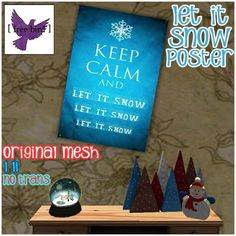 [ free bird ] Let it Snow Poster Ad | Flickr - Photo Sharing!