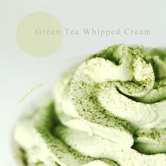 Make delectable green tea whipped cream at home. It's perfect with green tea muffins and cupcakes.