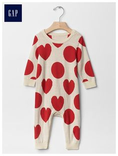 Heart and dot one-piece