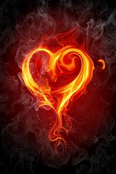 Fire heart wallpaper very love