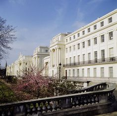 Cumberland Terrace from the south. John Nash, English Architecture, Classic Building, London House, English Heritage, Parking Design, Beautiful Places To Travel, Townhouse, Terrace