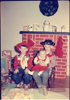 Lolol...this could be me & my brothers. Santa had to come down a card board fire place at our house, too!