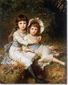 Carl Bauerle - German Painter - Children of George Drummond 1884