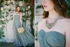 Green Chiffon Ruche dress (Fall Bridal Collection + Win Dresses for Your Bridesmaids!