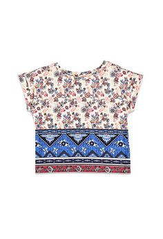 Floral Southwestern Print Top (Kids) | Forever 21 girls - 2000167457