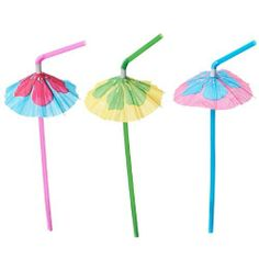 Hibiscus Parasol Straws (1 dz) by Fun Express. $4.52. These pretty parasol straws are decorated with large hibiscus flowers. Multi-colored straws with floral paper umbrellas are great for parties with a tropical, beach or Luau theme.