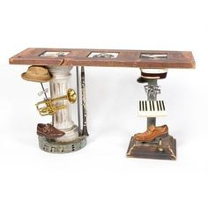 """Found objects """"Big Easy Trio"""" console table"""