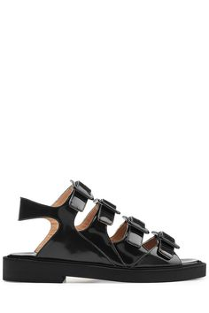 Black leather sandals — Go full Grecian goddess with these Santorini-inspired picks | gladiators, sandals, footwear, fashion, style