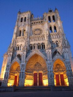 Amiens Cathedral, Picardy France.  Tallest standing cathedral 144ft.