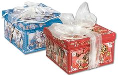 Delicious Flower Fairy packaged panettoni by Di Costa, Italy (www.dicosta.it)