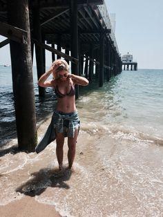 Malibu and tiger Lilly swim