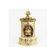 Buddhist OM MANI Temple Prayer Wheel dual power (Solar and cell operated )