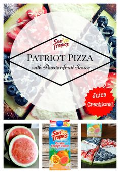 Looking for your 4th of July picnic-item hit? Try our Watermelon Pizza! The easy-peasy Passionfruit Sauce is to die for! :) Recipe: http://suntropics.net/blog/2015/06/26/fruit-pizza-passionfruit-sauce/