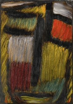 Artwork by Alexej von Jawlensky, MEDITATION, Made of oil on linen-finish paper laid down on board