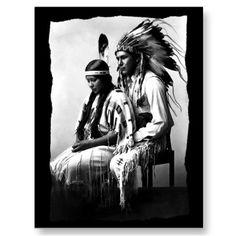 Vintage Native American Love couple