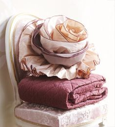 ruffle rose pillow - totally impractical, but oh-so-pretty