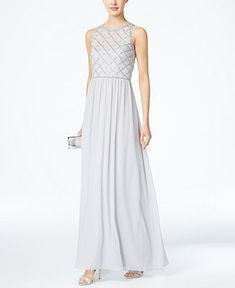 Adrianna Papell Sleeveless Beaded Dress - Dresses - Women - Macy's