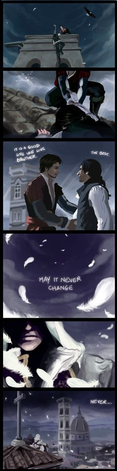 WHY WOULD YOU DO THAT. He did nothing! EZIO IS A GOOD FREAKING PERSON UBISOFT! WHY DO YOU TORMENT HIM!?