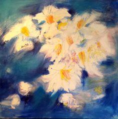 "Saatchi Art Artist vanecha roudbaraki; Painting, ""Blue printanier II"" #art"
