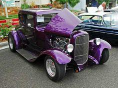 Purple hot rod c Purple Love, All Things Purple, Shades Of Purple, Deep Purple, Pink Purple, Purple Stuff, Magenta, 1957 Chevrolet, Chevrolet Chevelle