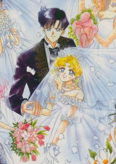 Sailor Moon wedding dress - I love the roses on Usagi's bodice!