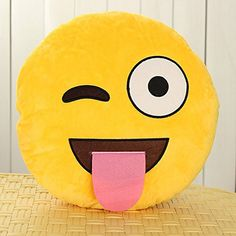 Ever wanted to bring the emoji's to life? Express your emotions with these adorable emoji pillows. They are fun, exciting, and comfortable. This makes a perfect gift either sharing your emotions with