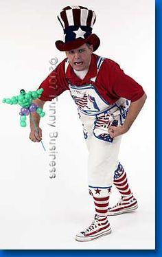 balloon man Firecracker, Ronald Mcdonald, Balloons, Artist, Fictional Characters, Style, Fashion, Swag, Moda