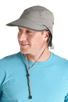 "Coolibar Convertible sun protective cap features a long 3 ¼""   8.3 cm brim 6ca652c756eb"