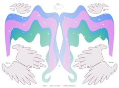 Princess Celestia pattern 4of4 by ~muffinshire on deviantART